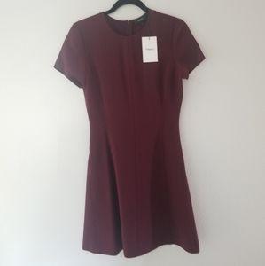 NWT Theory Admiral burgundy short sleeve dress  4
